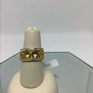 Women's Coach Signature Gold Ring Size 7
